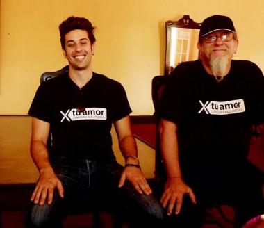 Cristian Alejandro y su padre, el relevante artista Edesio Alejandro