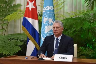 Miguel Mario Díaz-Canel Bermúdez, Presidente de la República de Cuba, en el Debate General del 75 Período Ordinario de Sesiones de la Asamblea General de Naciones Unidas.