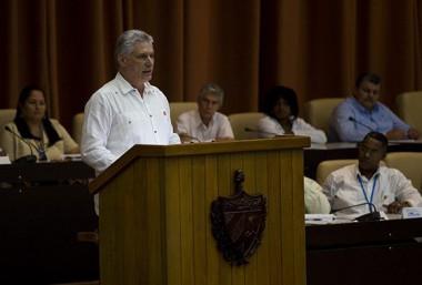 Miguel Díaz-Canel, Presidente de Cuba interviene en la Asamblea Nacional