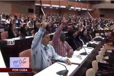 Votaciones en el Parlamento cubano