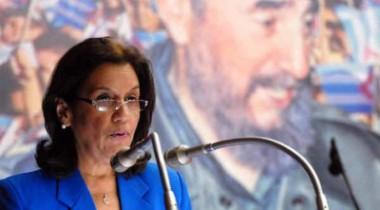 Ministra cubana de Ciencia, Tecnología y Medio Ambiente (Citma), Rosa Elba Pérez