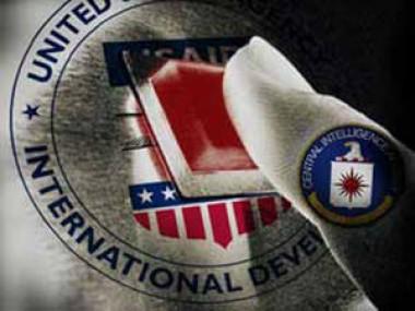 Banner alegórico a la CIA