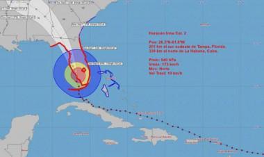Cono de trayectoria Huracán Irma