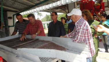 José Ramón Machado Ventura,evaluó la marcha de la recuperación agrícola tras el paso del huracán Irma