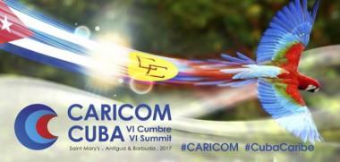 Banner alegórico a la Cumbre Cuba-CARICOM