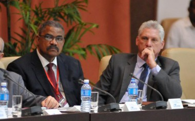 Presidente cubano, Miguel Díaz-Canel Bermúdez, participó este miércoles en la sesión inaugural del IX Encuentro Internacional Justicia y Derecho 2018 Foto/ Granma