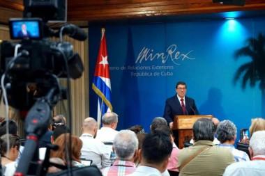 Bruno Rodríguez Parrilla, Ministro de Relaciones Exteriores de la República de Cuba denunció en Conferencia de Prensa