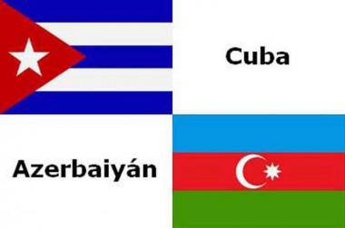 banderas de Cuba y Azerbaiyán