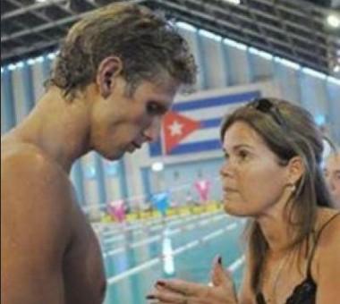 Hanser y su entrenadora Luisa Maria Mojarrieta