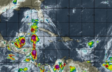 Mapa sobre situación meteorológica en Cuba