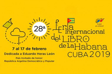 Cartel de la 28 Feria Internacional del Libro en Cuba (FIL)