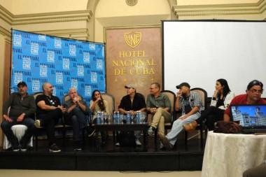 Actores del largometraje cubano de ficción Sergio & Serguei, de Ernesto Daranas