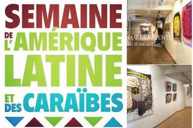 Banner alegóricoa a celebración en Francia la Semana de América Latina y el Caribe 2018