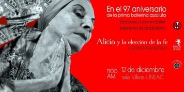 Banner alegórico a  audiolibro Alicia y la elección de la fe
