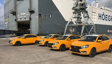 Trescientos 44 ladas Vesta y Largus arribaron desde Rusia este viernes a la capital cubana