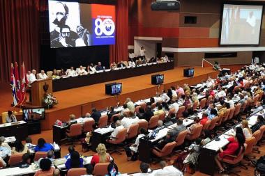 Jornada de clausura del XXI Congreso de la CTC, en el Palacio de Convenciones. Foto Estudios Revolución