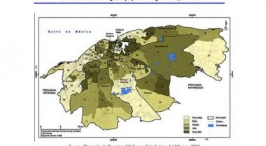 Mapa sobre áreas más vulnerables de La Habana para Covid19