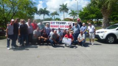 Integrantes de la emigración cubana en Miami