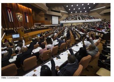 Plenario del Parlamento cubano