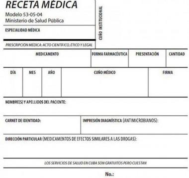 Modelo de receta médica