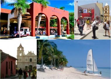 Imágenes alegóricas al turismo