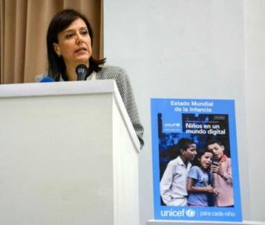 María Machicado, representante de la UNICEF