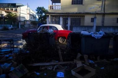 Recogida de basura en La Habana