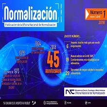 Revista Normalización No. 1 / 2018