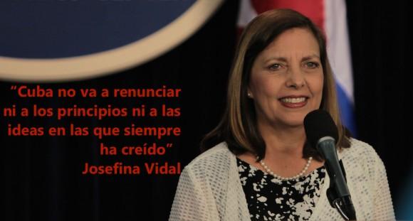 Josefina Vidal, directora general de Estados Unidos en la Cancillería cubana