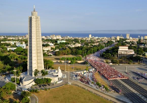 La Plaza de la Revolución, este Primero de Mayo.