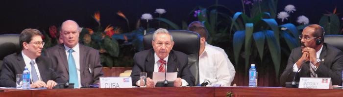 Raúl Castro y demás represantates de Caricom